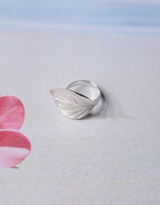 Φύλλο Ασήμι 925 Δαχτυλίδι