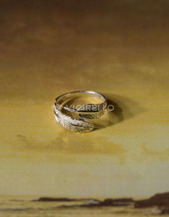 Φτερό Ασήμι 925 Δαχτυλίδι