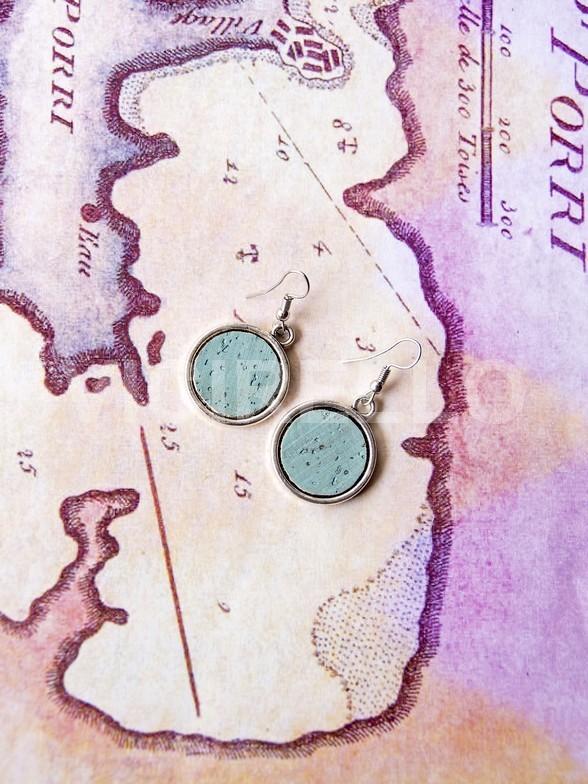 Ρόδος Mint Earrings