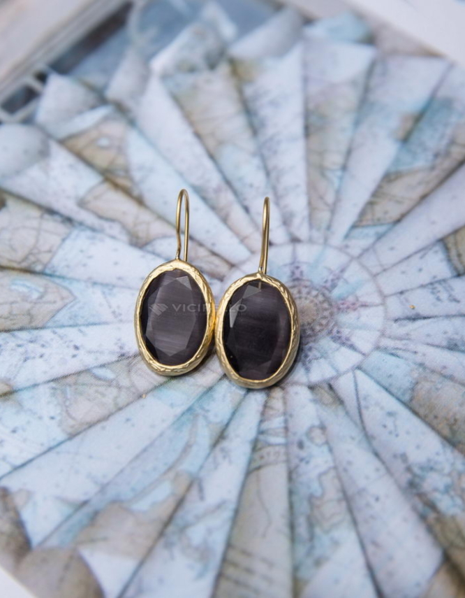 Σκορπιός Γκρί (Σκούρο) Σκουλαρίκια Μεσαίο Μέγεθος Β