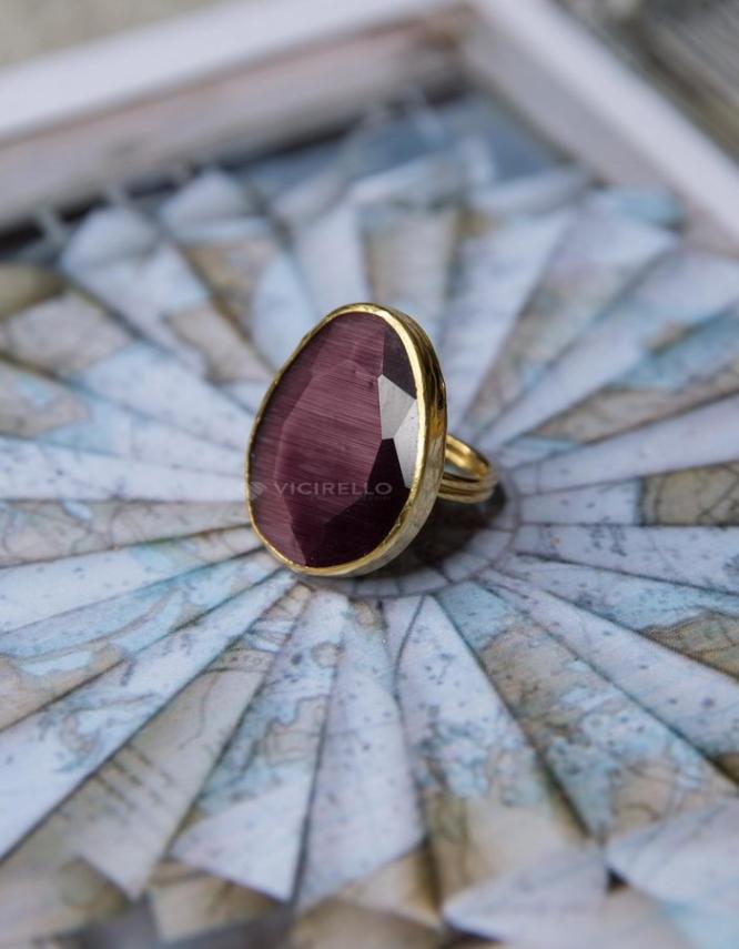 Σίκινος Επίχρυσο Δαχτυλίδι