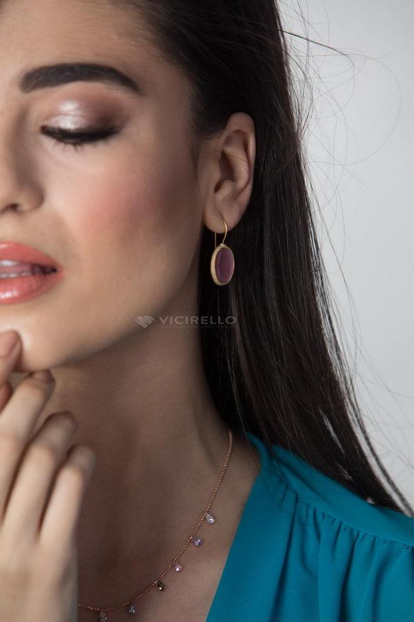 Ροζαλία Επίχρυσα Σκουλαρίκια Μικρό Μέγεθος