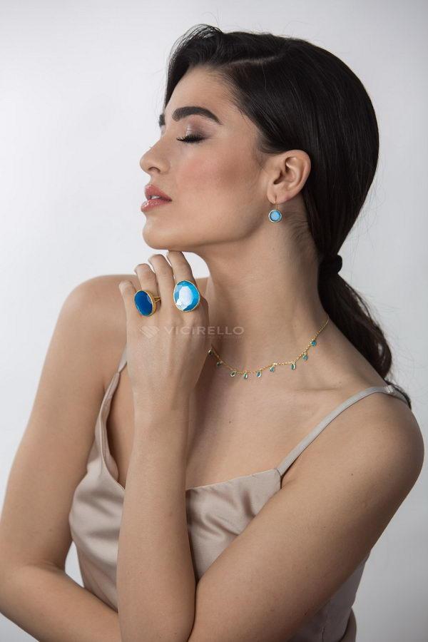 Φολέγανδρος 2 Μπλέ Δαχτυλίδι