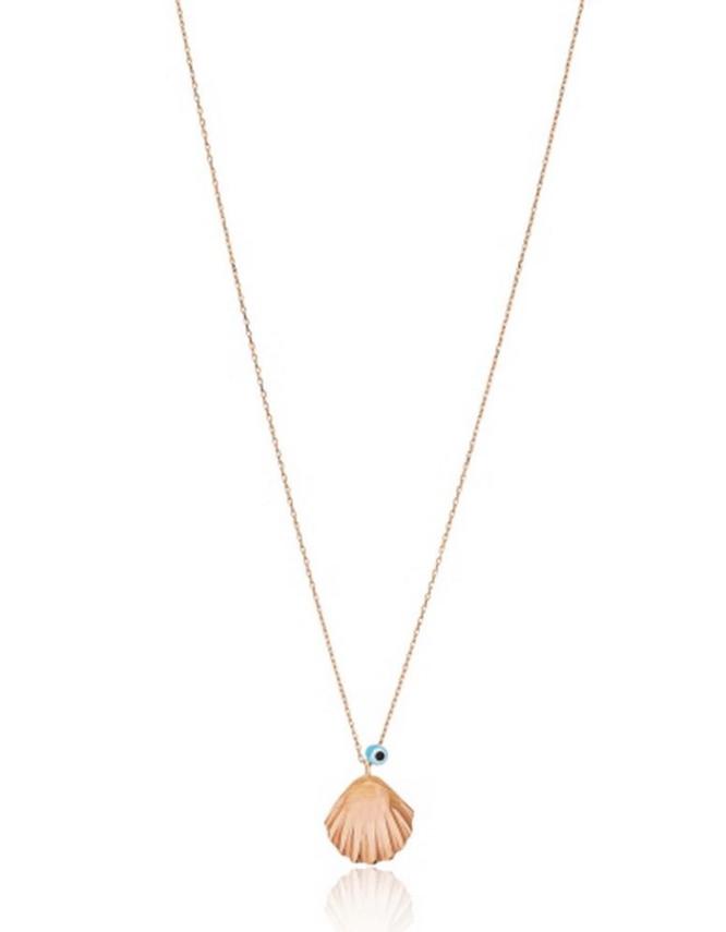 Κοχύλι Ματάκι Ασήμι 925 Rose Gold