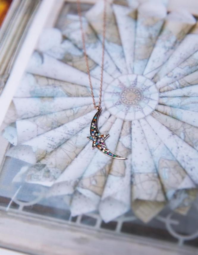 Ουρανία Ασήμι 925 Κολιέ (mixcolorΒ)