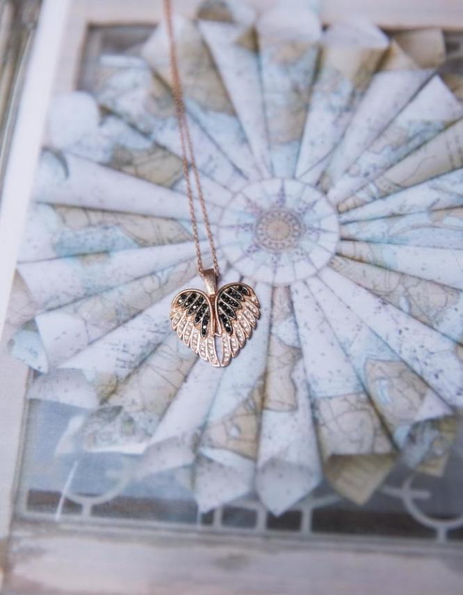 Άγγελος Ασήμι 925 Rose Gold Κολιέ
