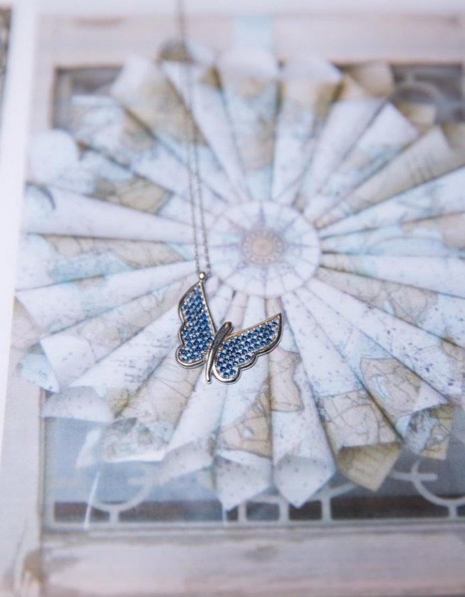 Πεταλούδα Ασήμι 925 (+Χρώματα)