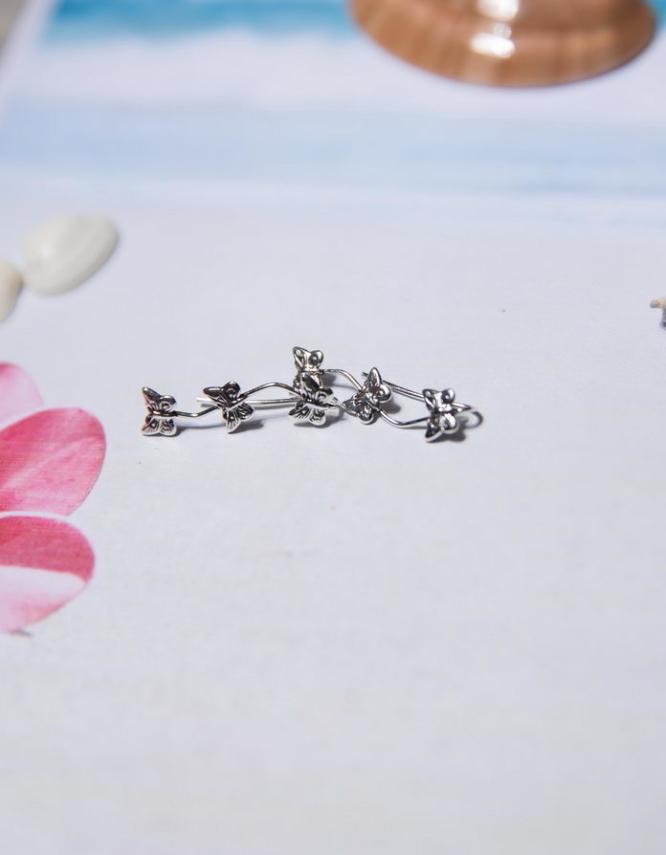 Πεταλούδες Ασήμι 925 Climber