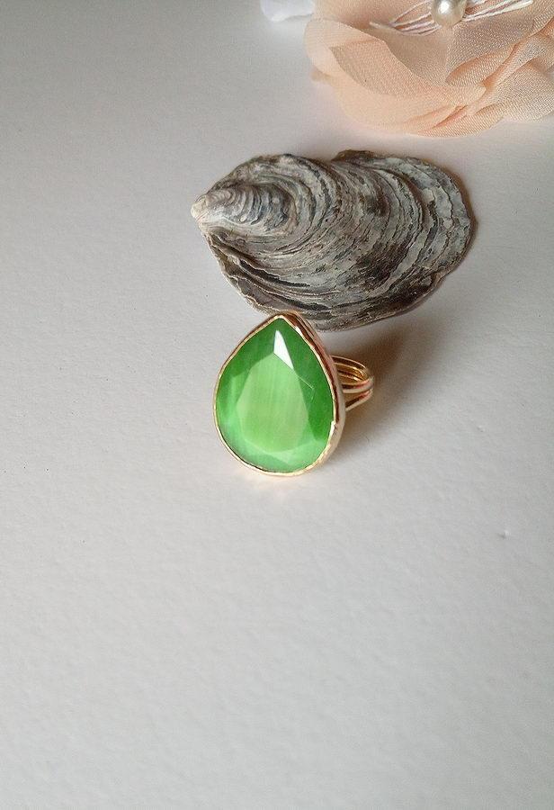 Πράσινη Σταγόνα Δαχτυλίδι