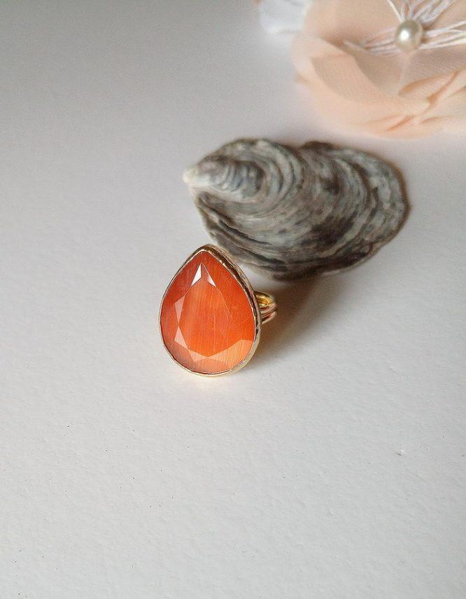 Πορτοκαλί Σταγόνα Δαχτυλίδι