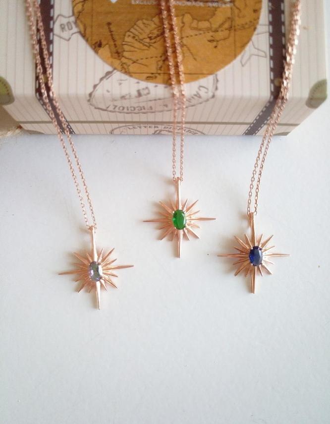 Πολικός Αστέρας Ασήμι 925 Κολιέ(+Χρώματα)
