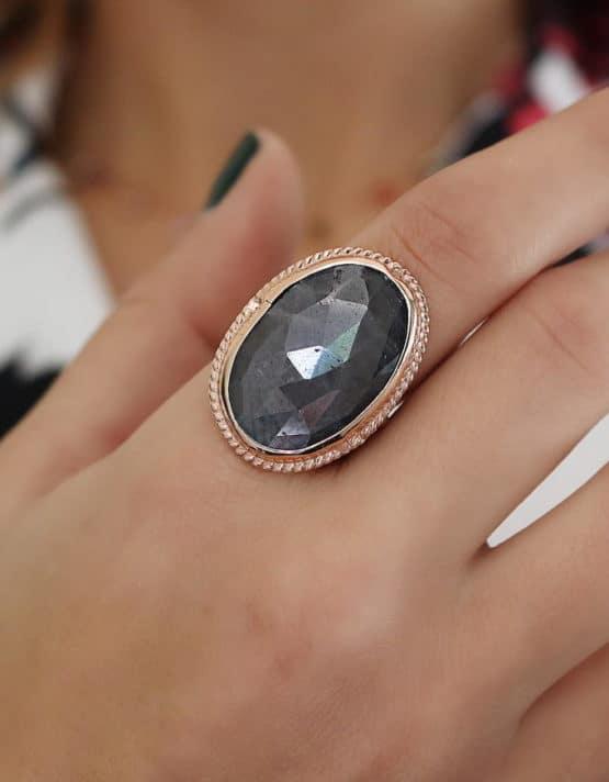 Βικτωριανό 9 Ασήμι 925 Δαχτυλίδι