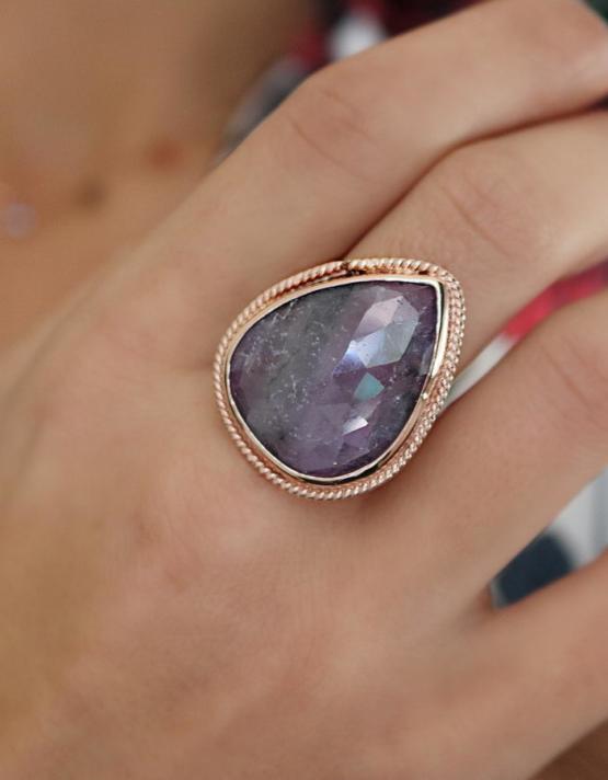 Βικτωριανό 8 Ασήμι 925 Δαχτυλίδι