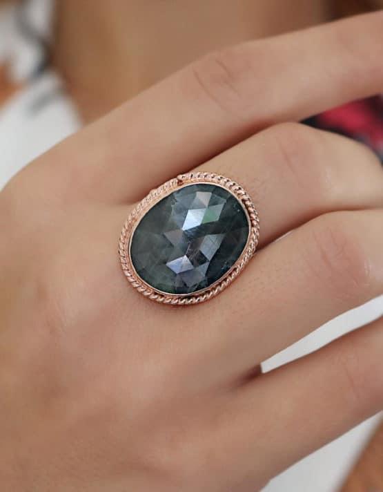 Βικτωριανό 6 Ασήμι 925 Δαχτυλίδι