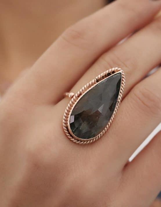 Βικτωριανό 3 Ασήμι 925 Δαχτυλίδι