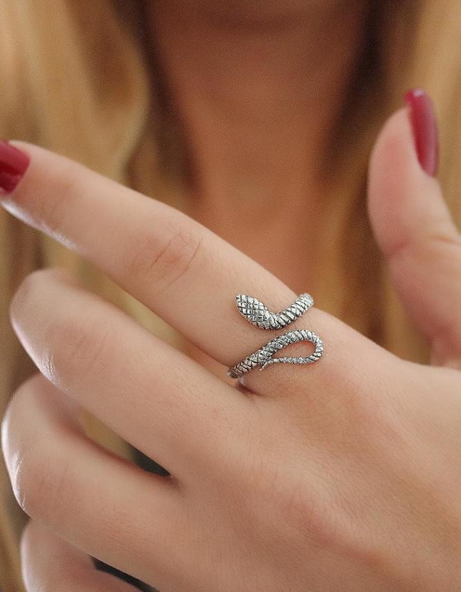 Φιδάκι Ασήμι 925 Δαχτυλίδι
