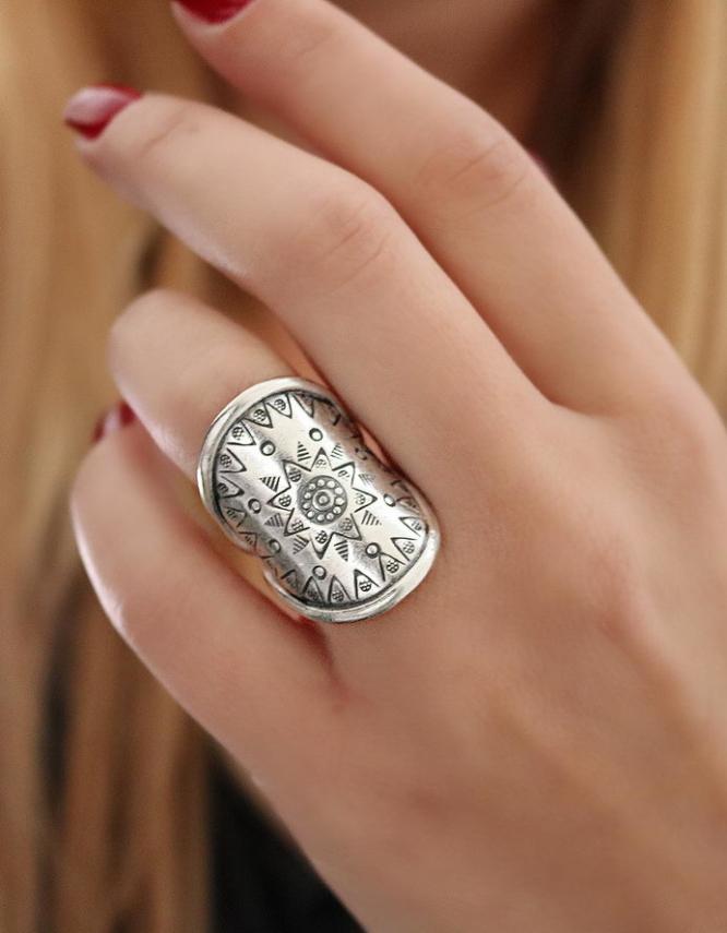 Thibet 5 Ethnic Ring Silver 925