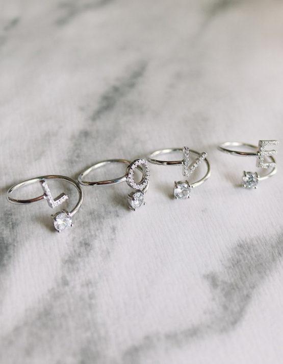 Monogram Ring Silver 925