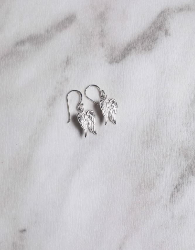 Φτερά Αγγέλου Ασήμι 925 Σκουλαρίκια