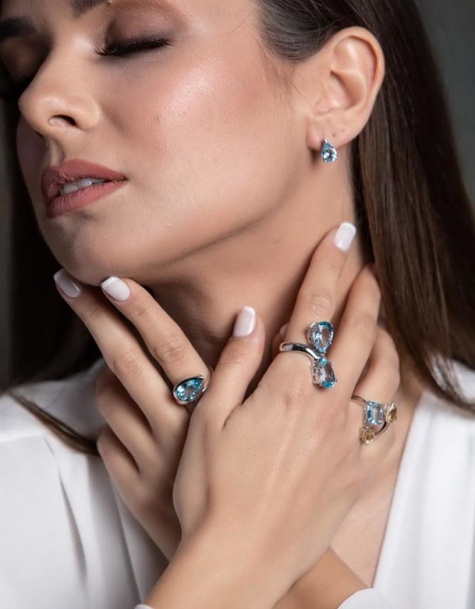 Ουρανία Ασήμι 925 Δαχτυλίδι Κιτρίνης