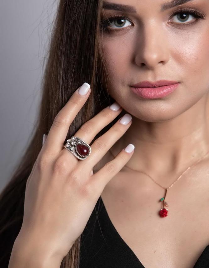 Ρόζα Ασήμι 925 Rose Gold Κολιέ