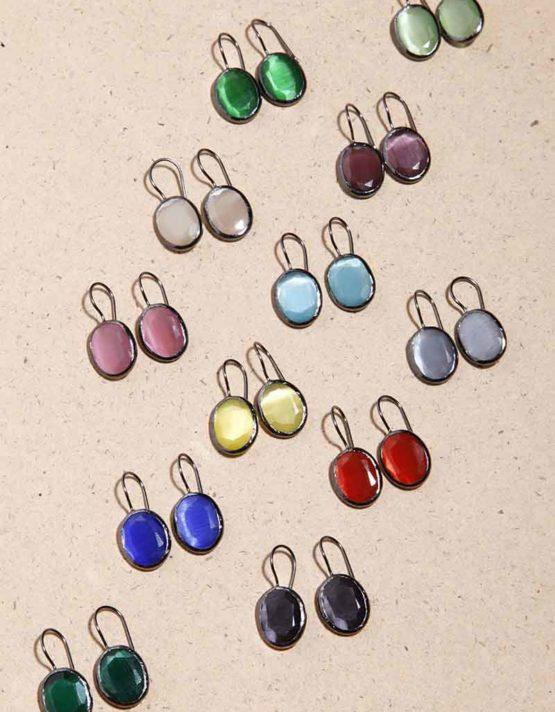 Ίρις Επιροδιωμένα Σκουλαρίκια (+Χρώματα)