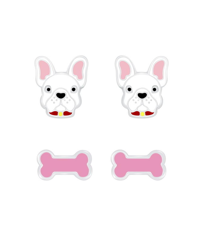 Σκυλάκι Παιδικά Καρφωτά Σκουλαρίκια