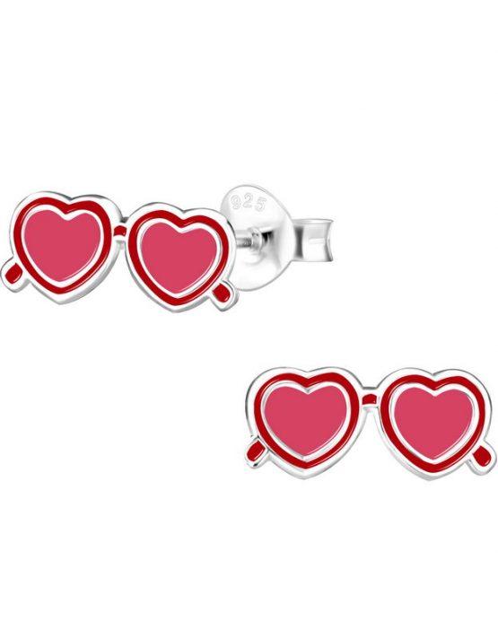 Καρδιά Sunglasses Καρφτά Σκουλαρίκια