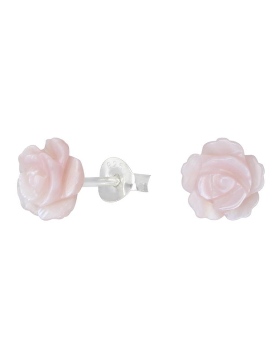 Shell Rose Καρφωτά Σκουλαρίκια