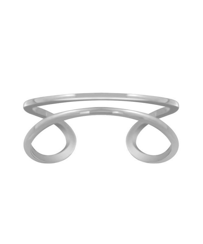 Double Line Δαχτυλίδι Ασήμι 925