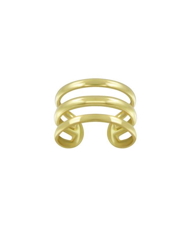 Triple Line Επίχρυσο Ασήμι 925 Ear Cuff