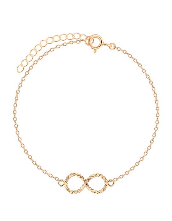 Άπειρο Βραχιόλι Rose Gold Ασήμι 925