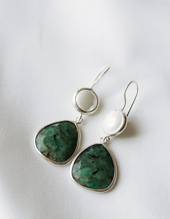 Jade Νεφρίτης Ασήμι 925 Σχέδιο 1