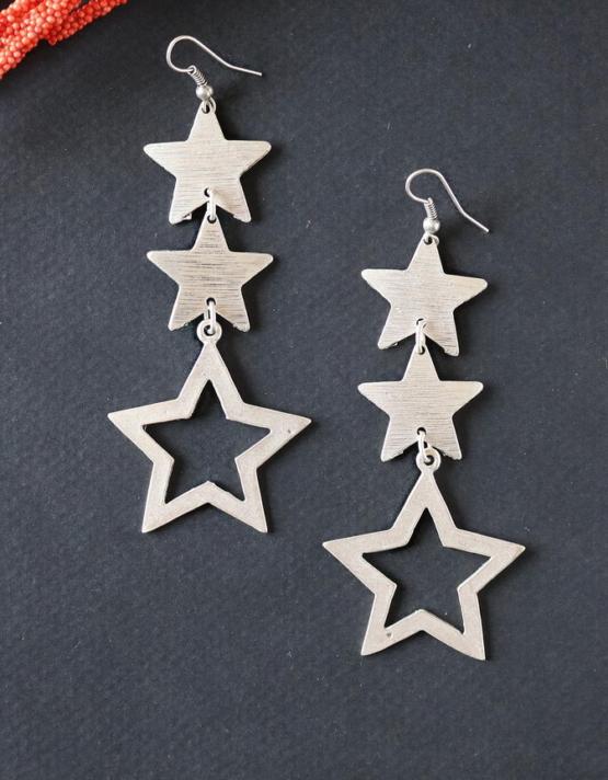 Τριπλό Αστέρι Σκουλαρίκια