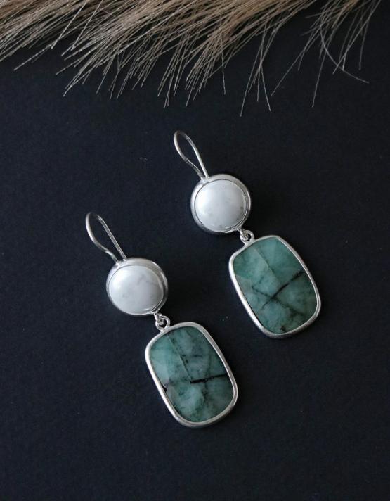 Jade Νεφρίτης Ασήμι 925 Σχέδιο 2
