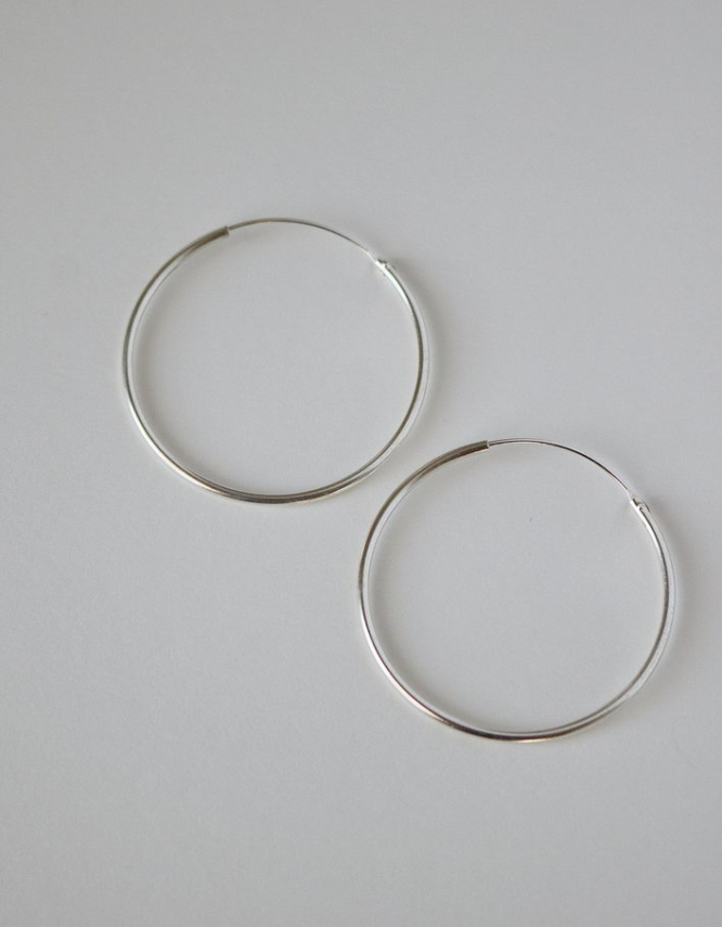 Simple Hoops Ασήμι 925