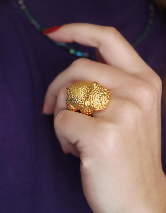 Mama Bear Δαχτυλίδι Χρυσό Χρώμα
