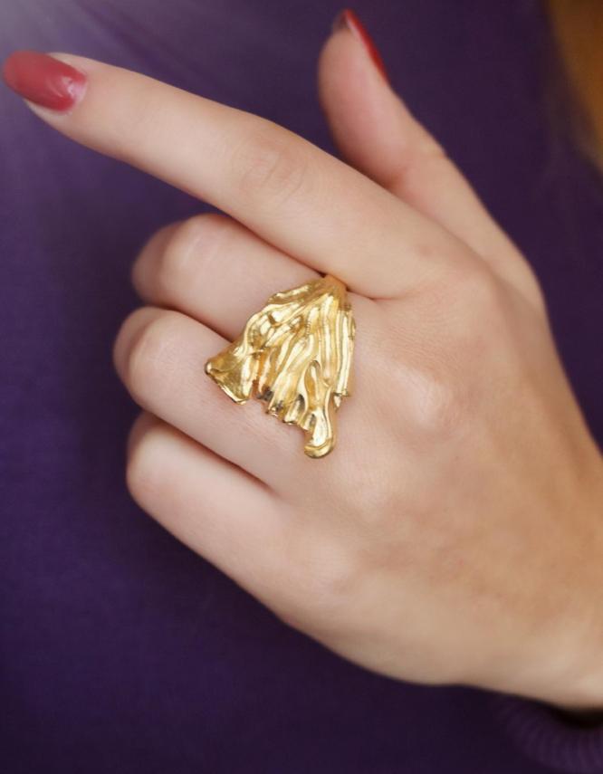 Αυγή Δαχτυλίδι Χρυσό Χρώμα