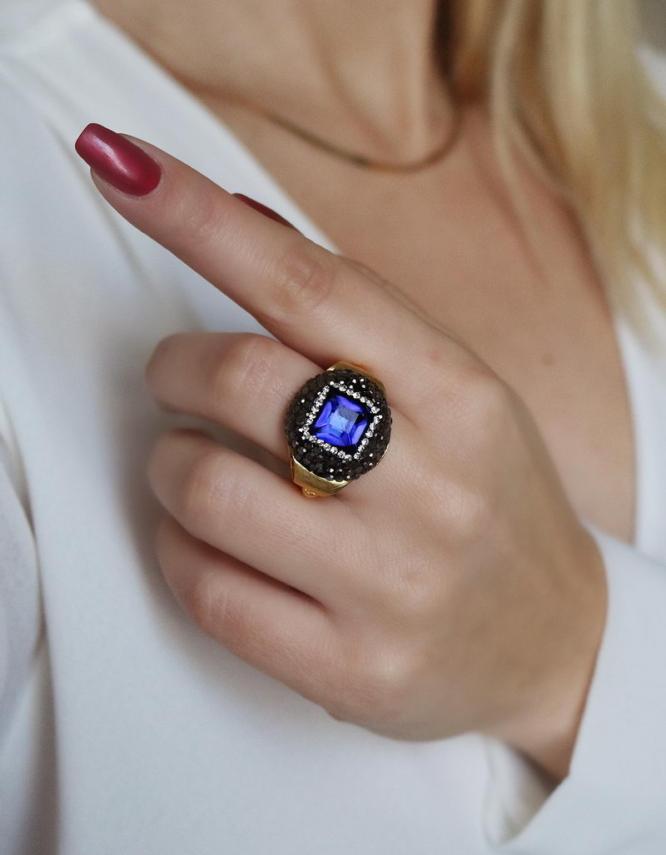 Αθηνά Μπλε Δαχτυλίδι