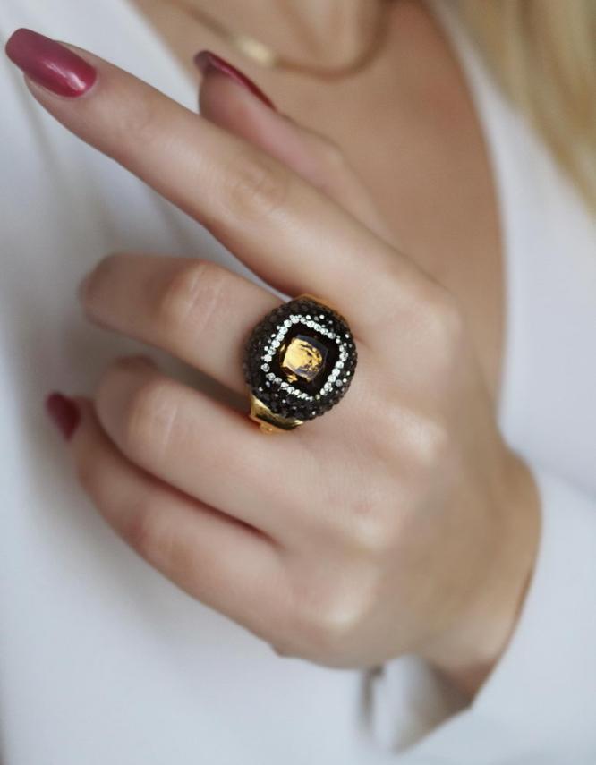 Αθηνά Κίτρινο Δαχτυλίδι