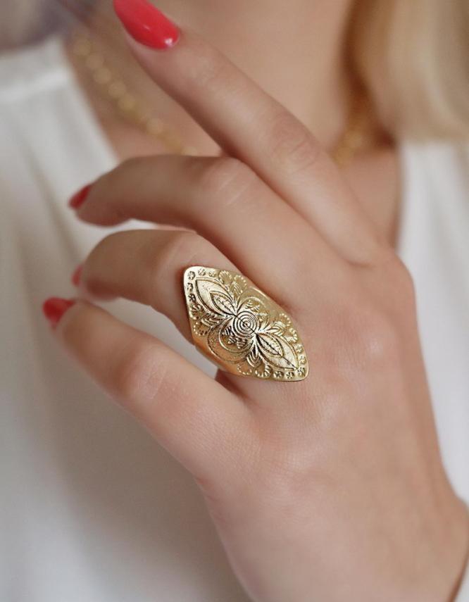 Αζάλεα Δαχτυλίδι Χρυσό Χρώμα