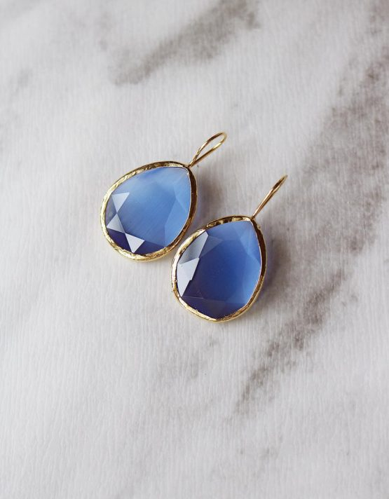 Γαλάζιες Σταγόνες Σκουλαρίκια