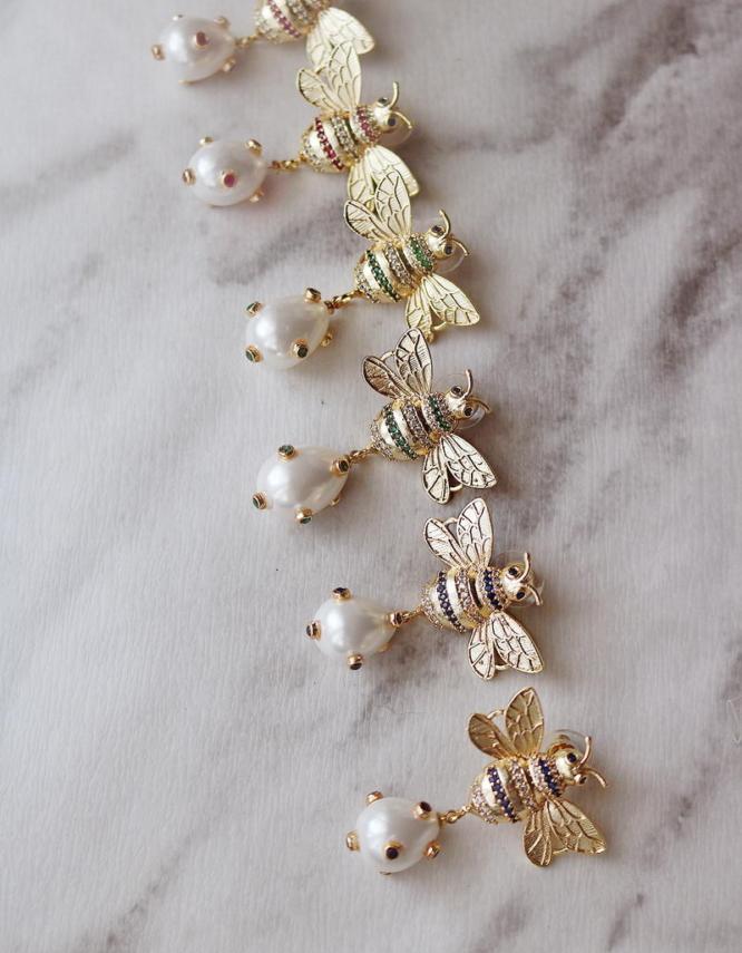 Μελισσούλες Πέρλα Σκουλαρίκια
