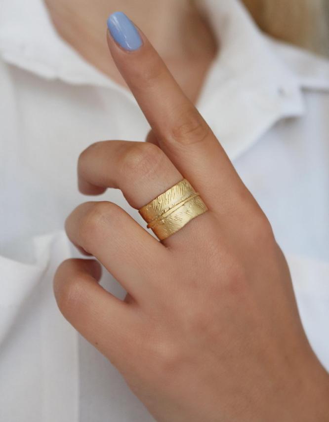 Φιλαρέτη Δαχτυλίδι Χρυσό Χρώμα