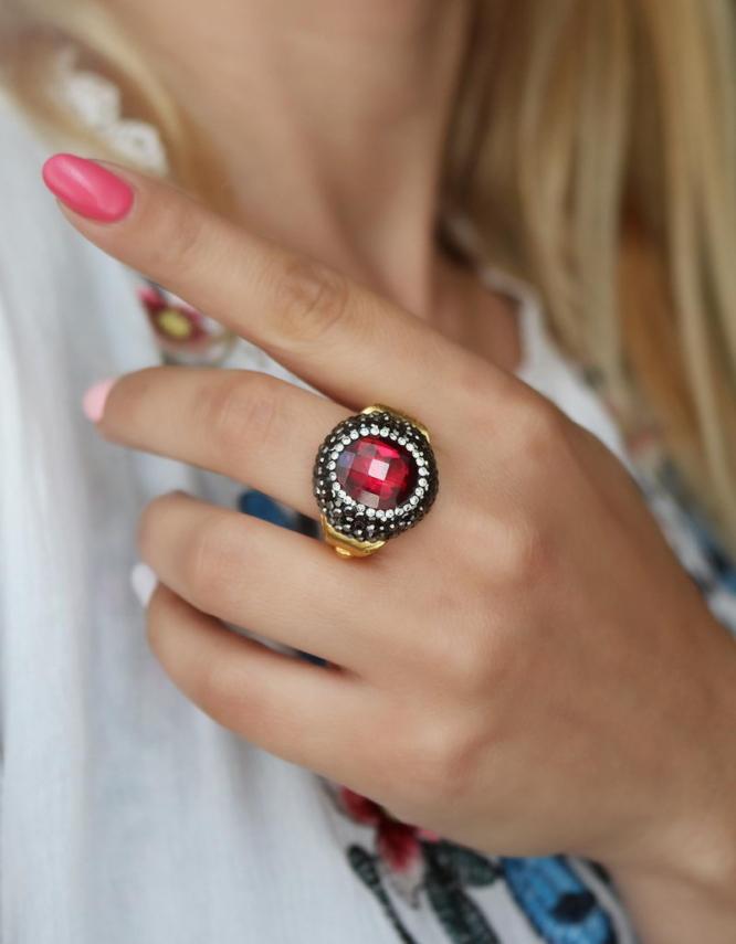 Αθηνά Κόκκινο Δαχτυλίδι Σχέδιο 4