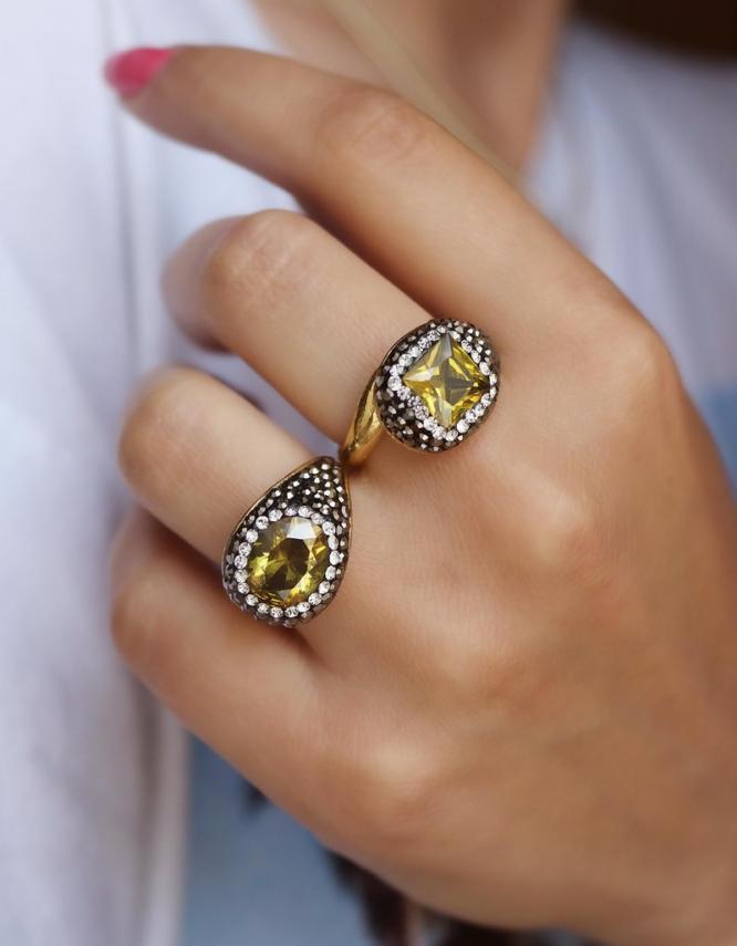 Αντιγόνη Κίτρινο Δαχτυλίδι