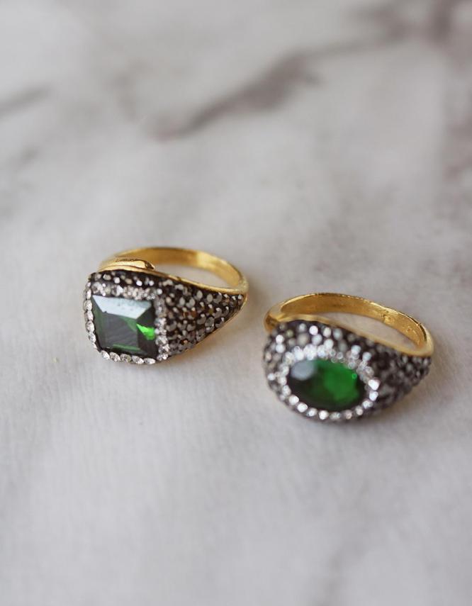 Αντιγόνη Πράσινο Δαχτυλίδι