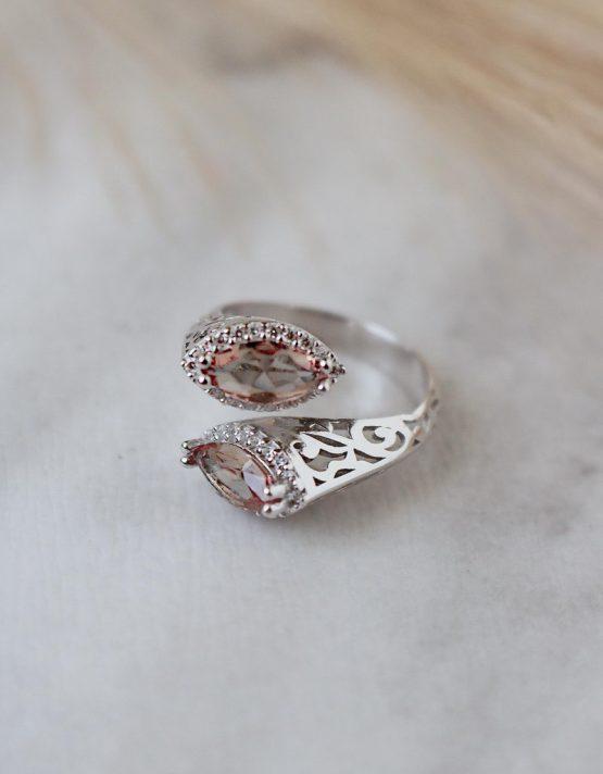 Σουλτανίτης Ασήμι 925 Διπλό Δαχτυλίδι