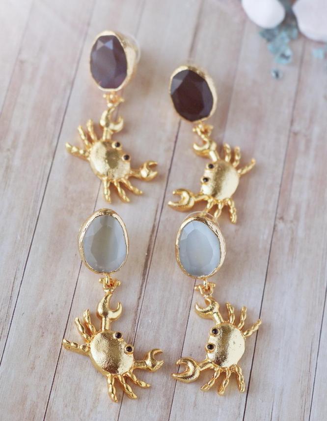 Καβουράκια Σκουλαρίκια με Πέτρες