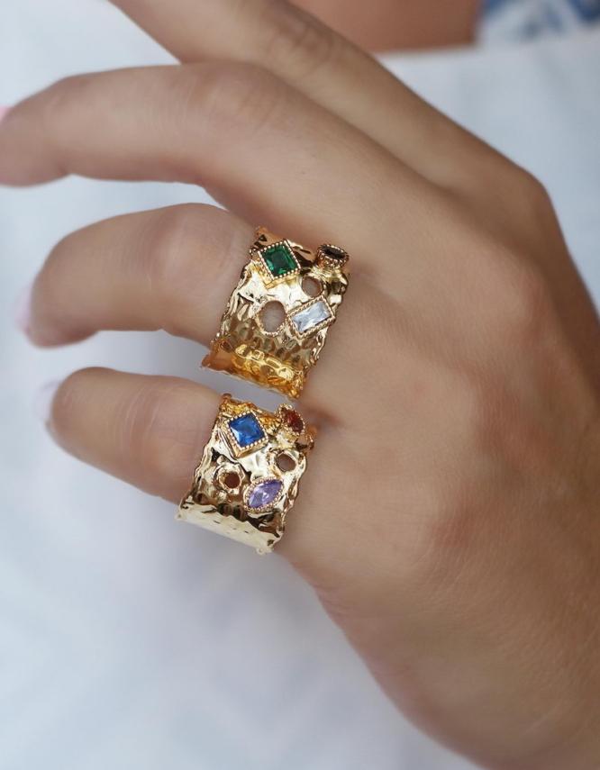 Κλεοπάτρα Δαχτυλίδι Με Πετράδια